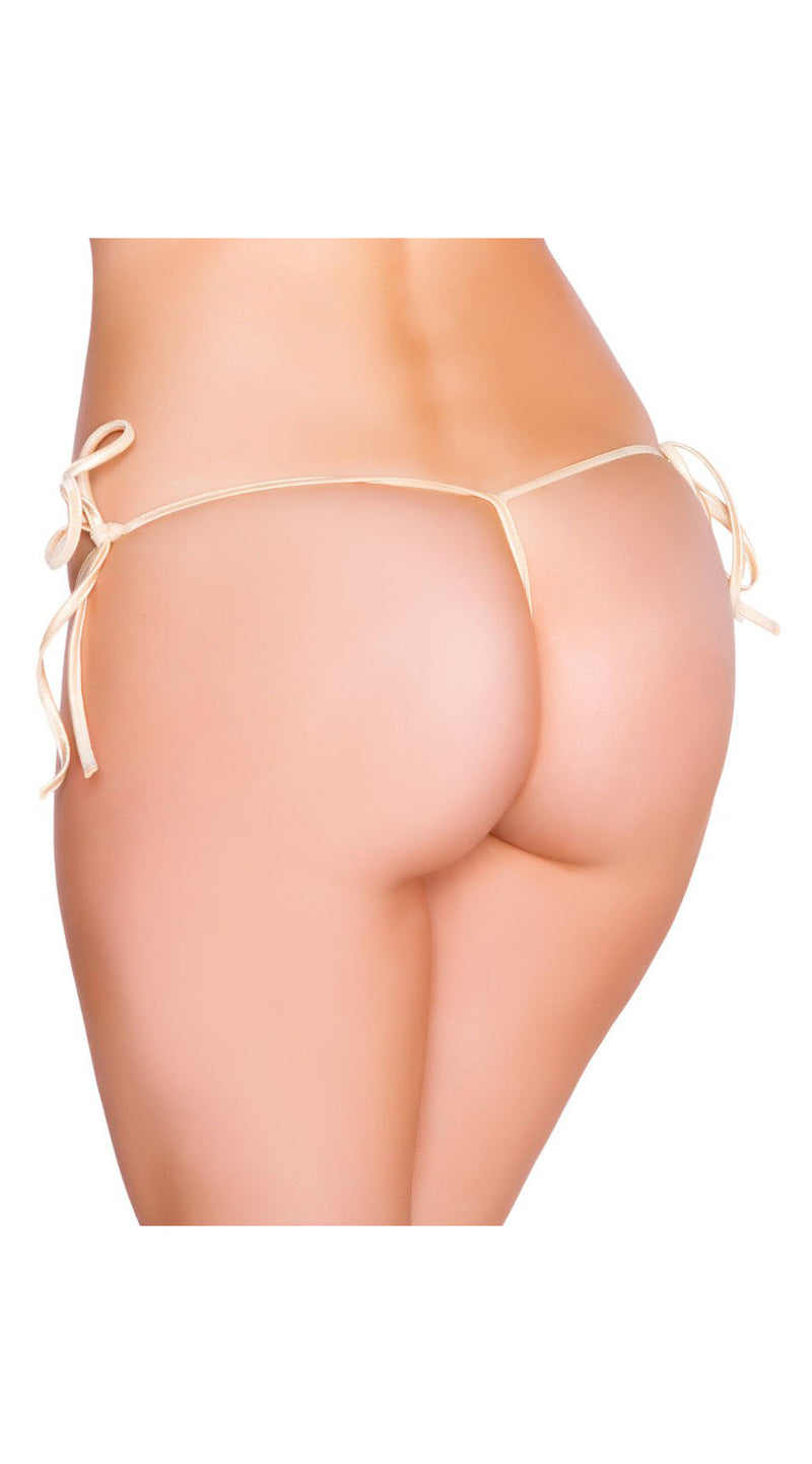 Nude G-String Back Tie Side Bottom