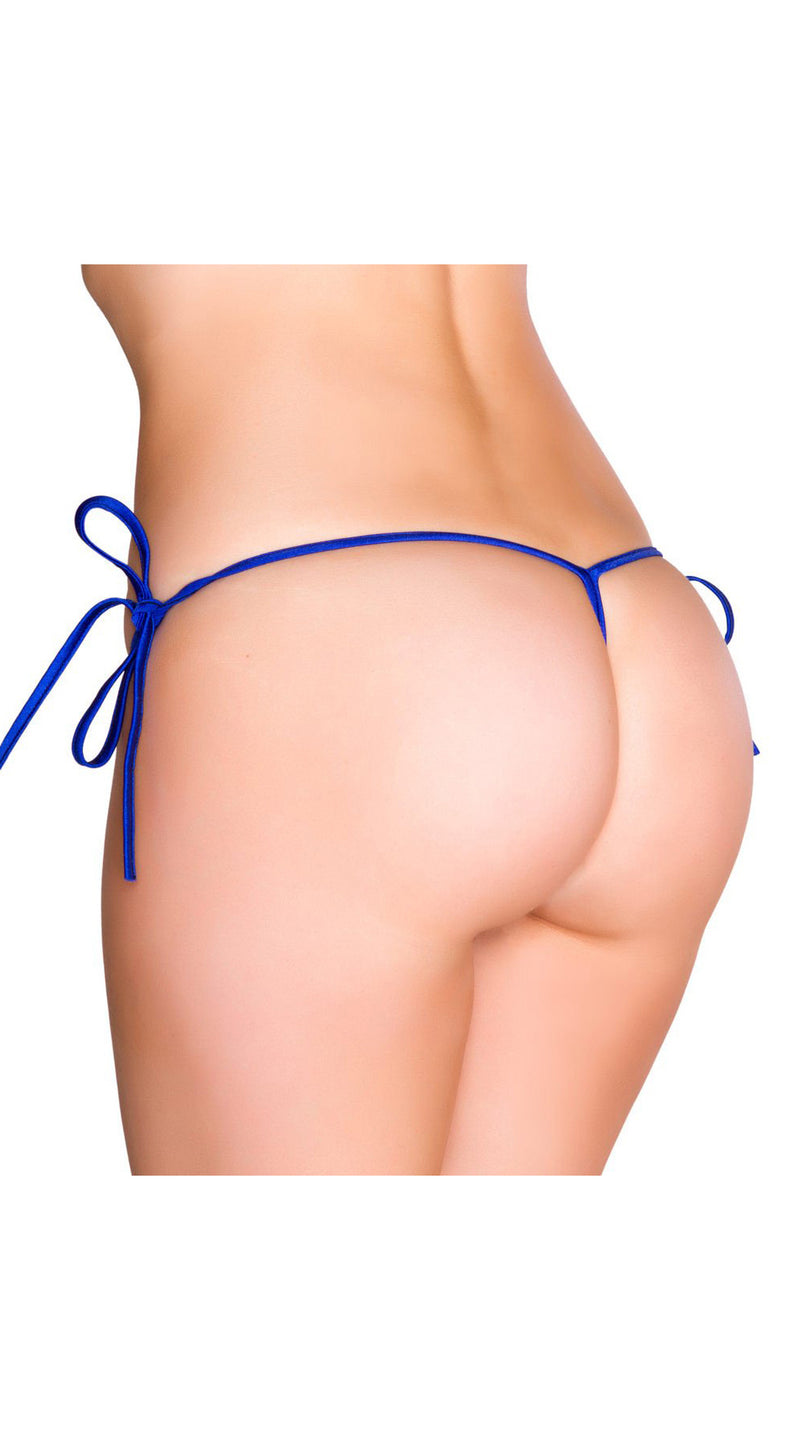 Royal Blue G-String Back Tie Side Bottom