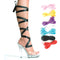 5 Inch Heel Sandal with 7 Interchangeable Ribbons - ElegantStripper