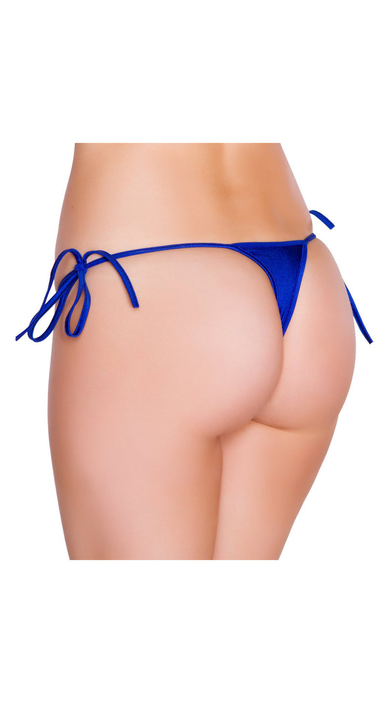 Royal Blue Micro Low Cut Tie Side Thong