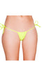 Yellow Micro Low Cut Tie Side Thong