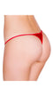 Red Micro Low Cut Thong