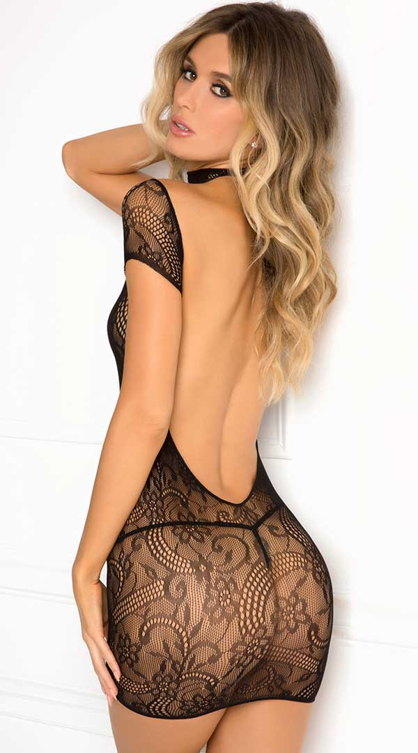 Cold Shoulder Lace Bodystocking