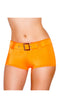 Orange Belted Shorts
