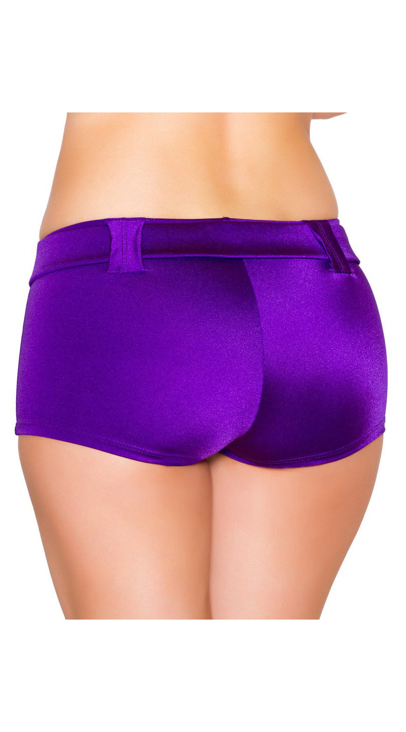 Purple Belted Shorts