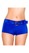 Royal Blue Belted Shorts