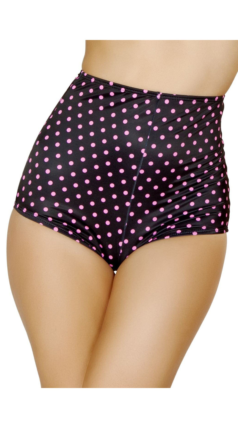 High-Waisted Shorts Black/Pink