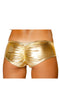 Metallic Pucker Back Mini Short