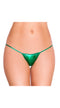 Hunter Green Sexy Metallic Bikini Bottom