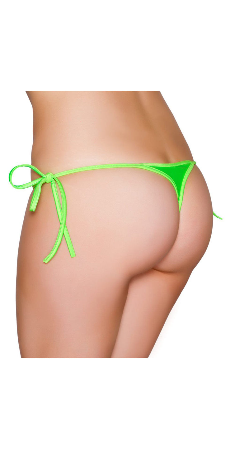 Lime Sexy Tie Side Bikini Bottom