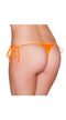 Orange Sexy Tie Side Bikini Bottom