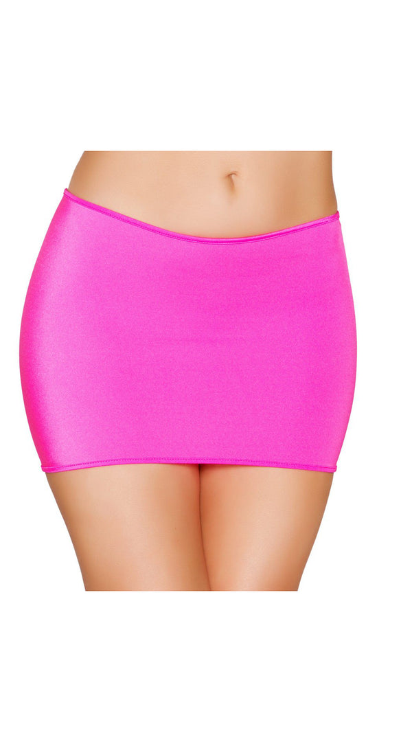 Hot Pink Lycra Mini Skirt