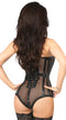 Steel Boned Fishnet Corseted Bodysuit