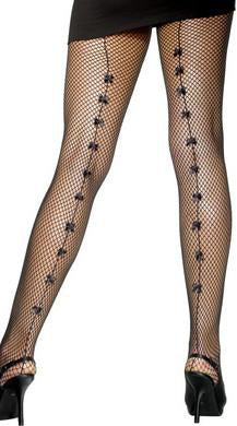 Fishnet Tights with Small Bows