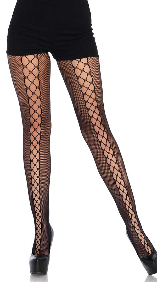 Micro Net Lace Up Tights