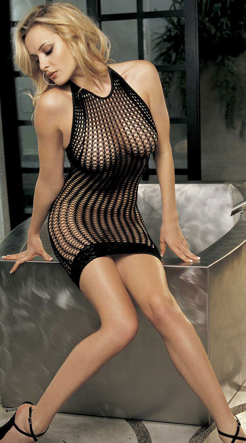 Honeycomb Fishnet Dress