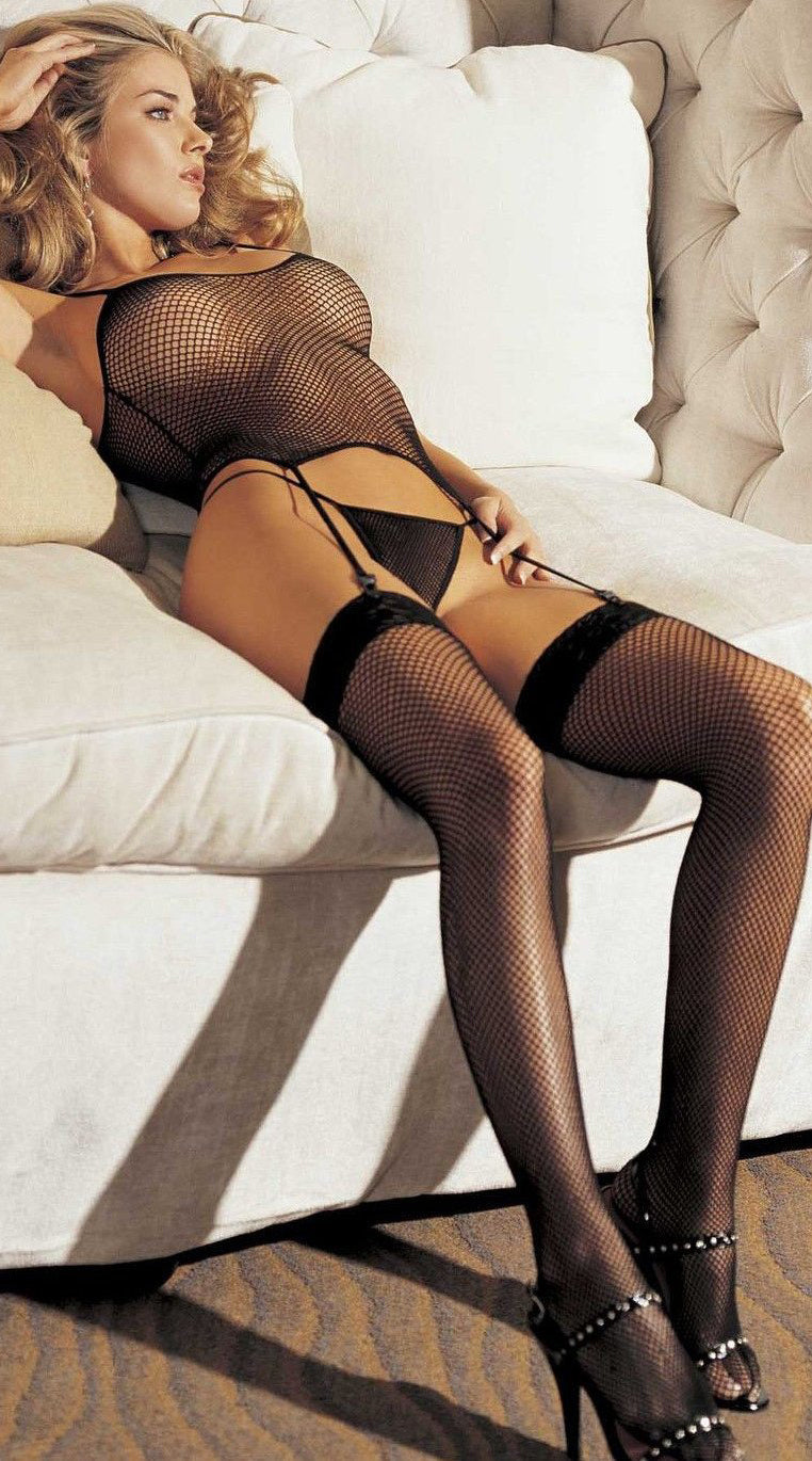 Three Piece Fishnet Set