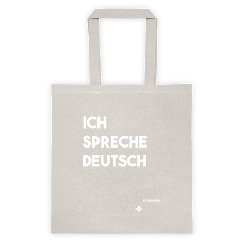 I Speak German Tote Bag