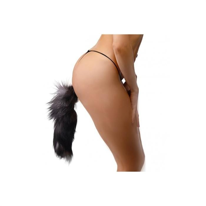 Tailz Grey Fox Tail Anal Plug - Wicked Wanda's Inc.