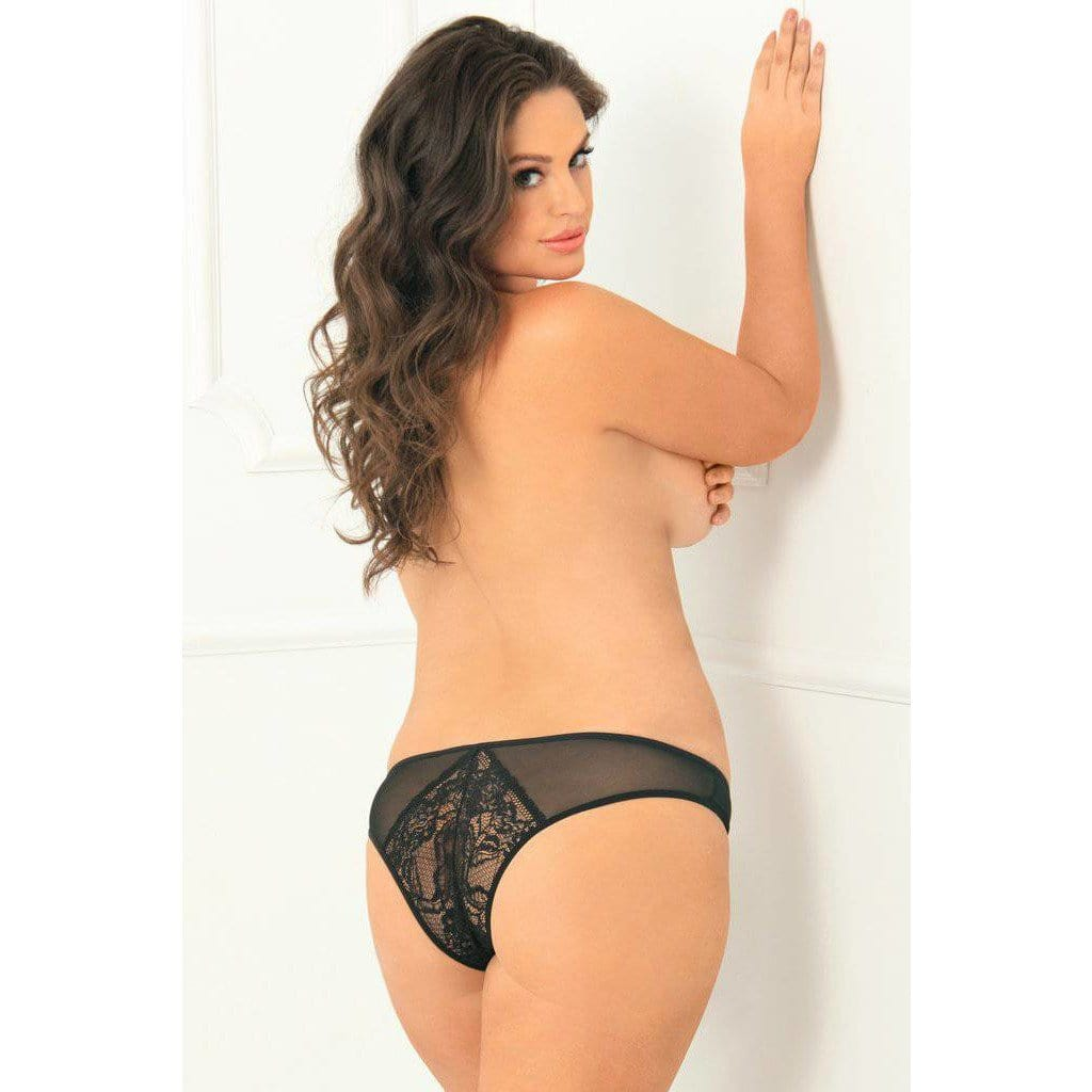 Rene Rofe Miss Behavior Crotchless Panty - Wicked Wanda's Inc.