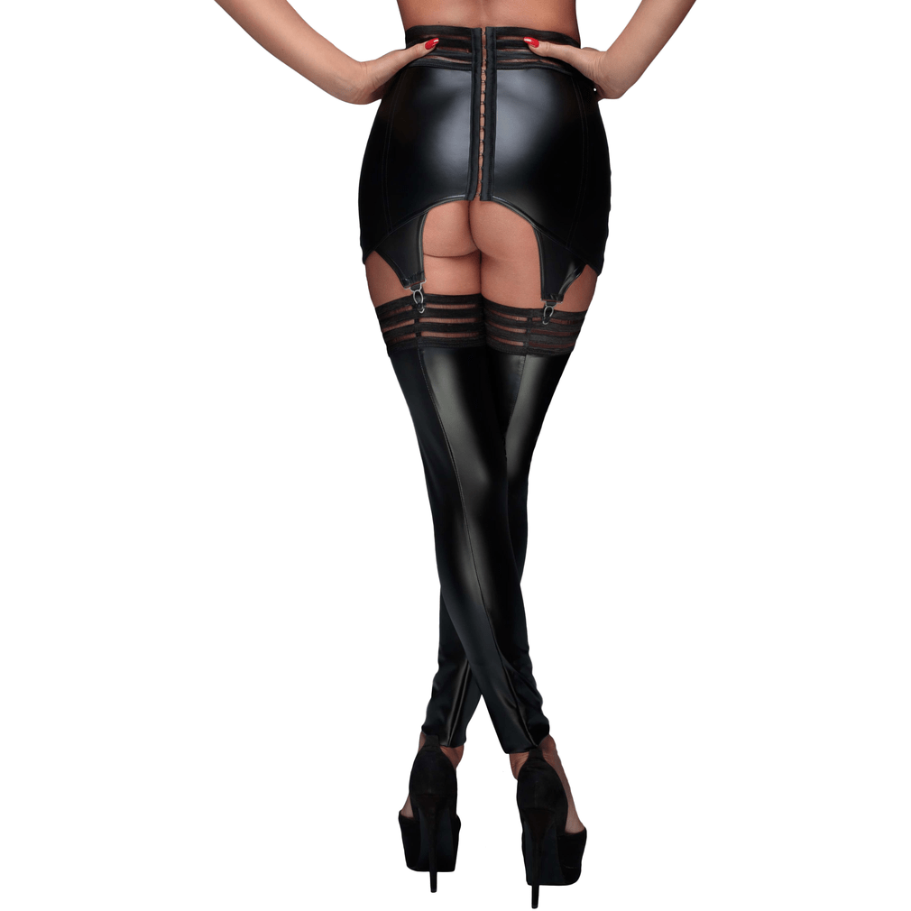 Powerwetlook stockings with elastic tape - Wicked Wanda's Inc.