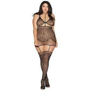 GARTER DRESS SET - Wicked Wanda's Inc.