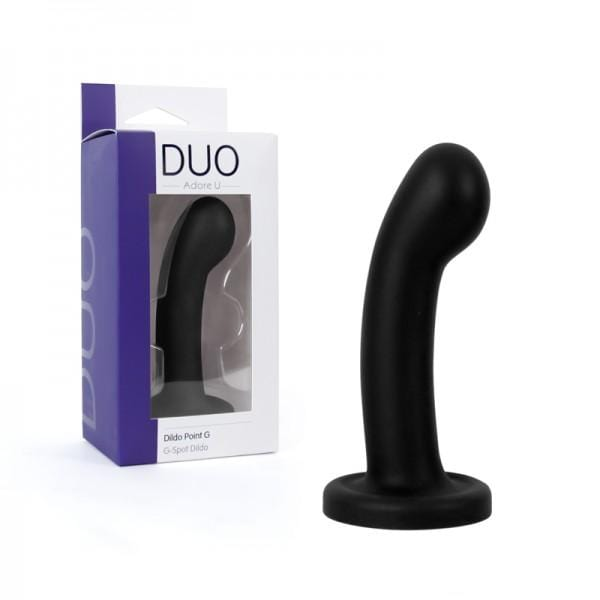 Adore U DUO Curved & Rounded Dildo Black