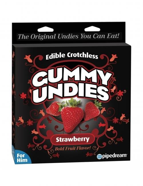 Pipedream Gummy Undies for Him Strawberry - Wicked Wanda's Inc.