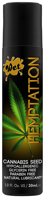 Wet Hemptations Hemp Seed Natural Lubricant - Wicked Wanda's Inc.