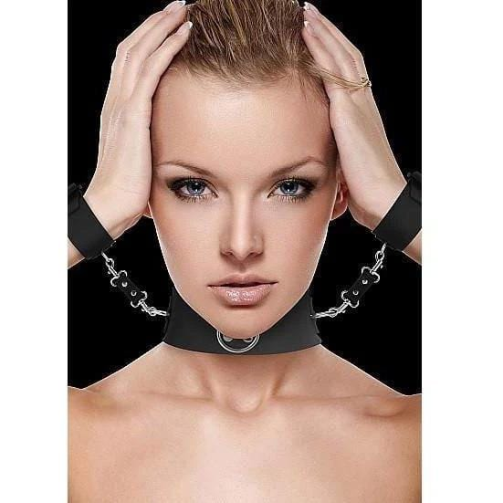 Ouch! Collar and Cuffs with Metal Fasteners - Wicked Wanda's Inc.