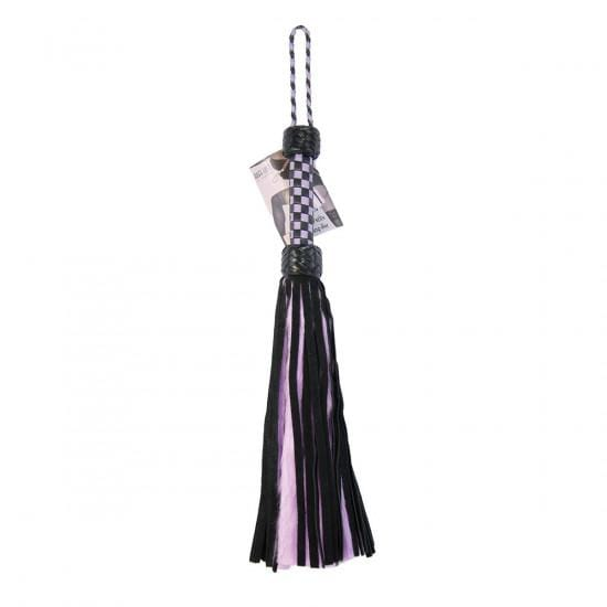 Rough Doggy Flogger Mini Suede and Fluff Purple and Black - Wicked Wanda's Inc.