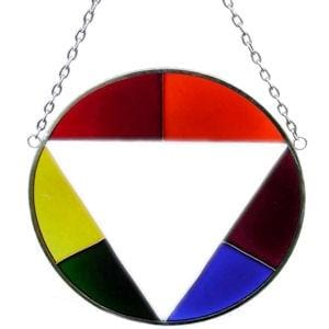 Gay Pride Stained Glass Circle - Wicked Wanda's Inc.