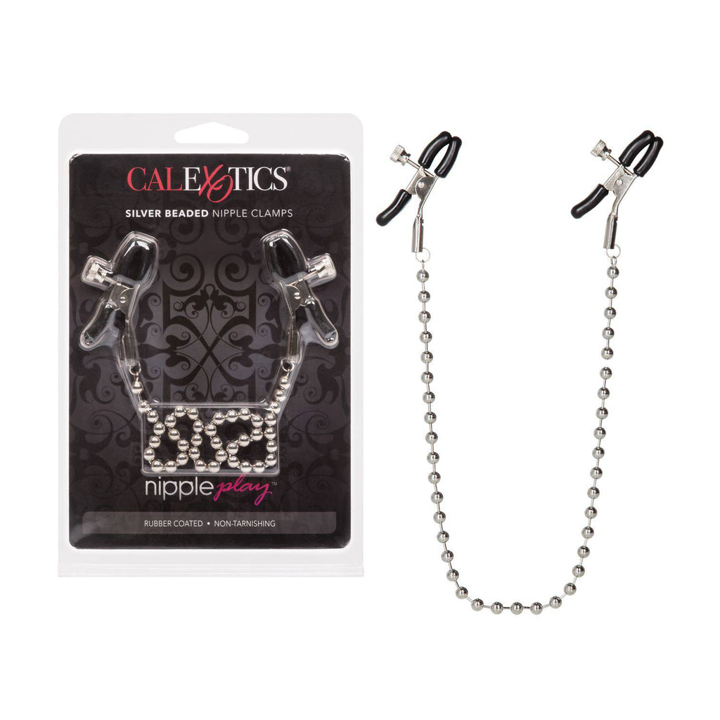 Calexotics Silver Beaded Nipple Clamps - Wicked Wanda's Inc.