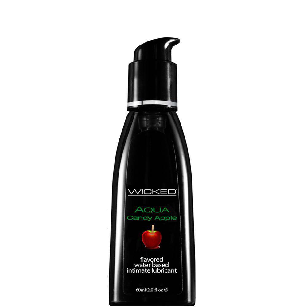 Wicked Aqua Flavoured Lube - Candy Apple - Wicked Wanda's Inc.
