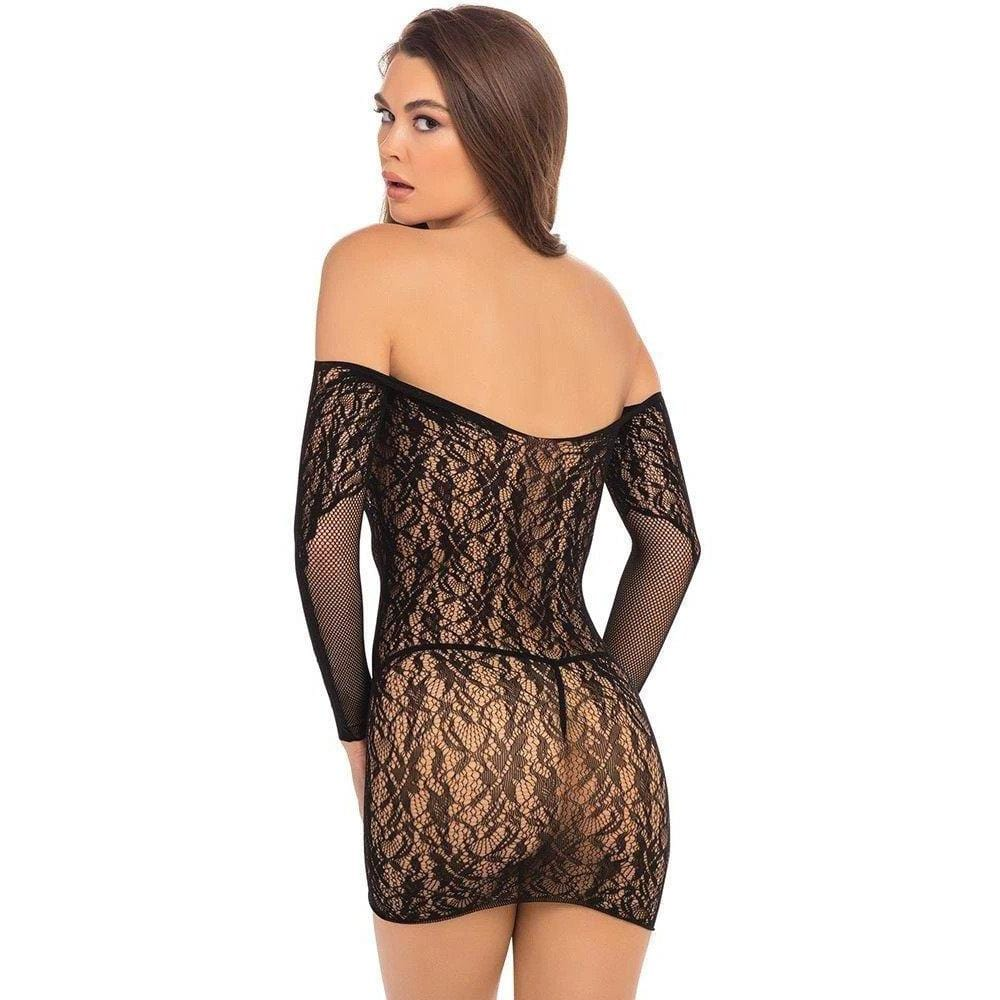 Rene Rofe Demure Long Sleeve Mini Dress - Wicked Wanda's Inc.