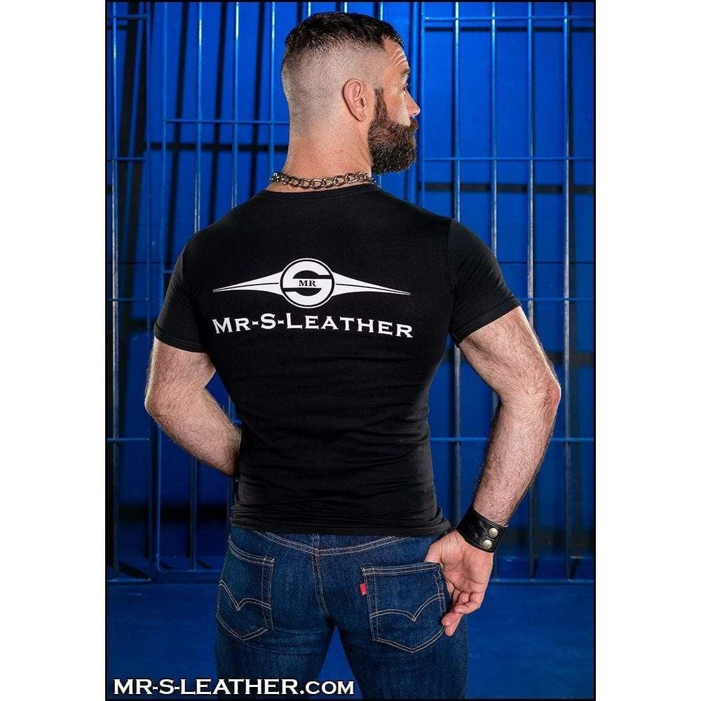 Mr S. Leather Logo T-shirt - Wicked Wanda's Inc.