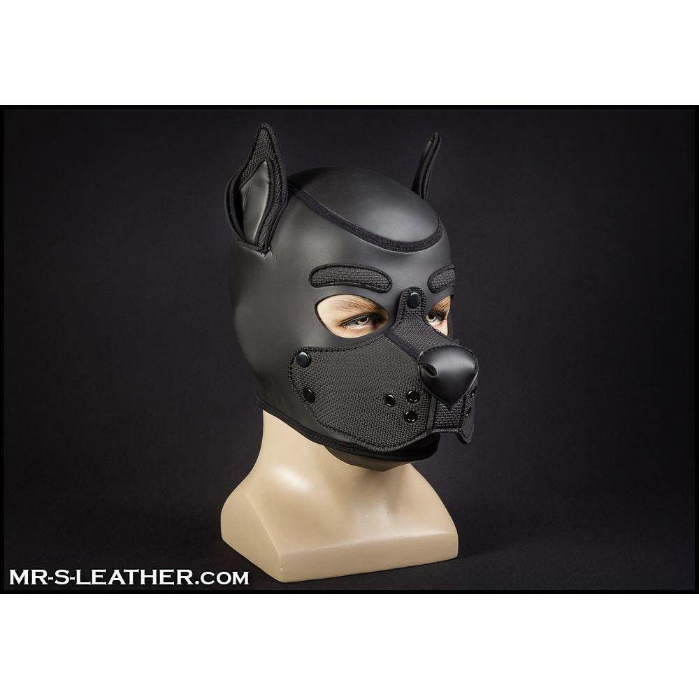 Mr. S Leather All Black Neoprene K9 Hood - Wicked Wanda's Inc.
