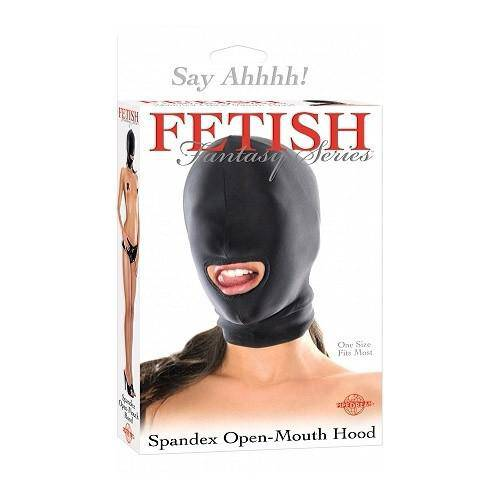 Fetish Fantasy Series Spandex Open Mouth Hood - Wicked Wanda's Inc.