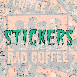 Rad Coffee Shop Stickers