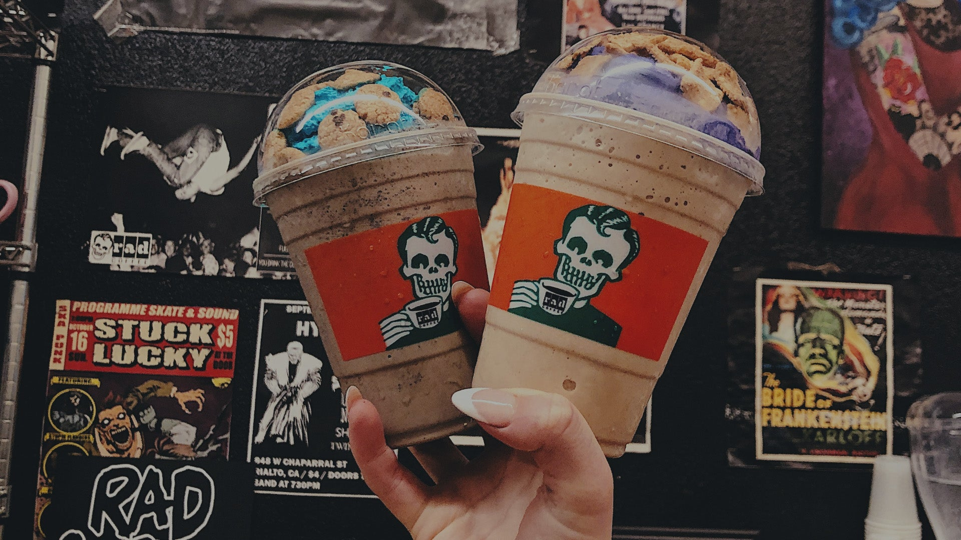 Two Rad Coffee Drinks - Cookies N' Scream - Horror Themed Punk Rock Coffee Shop