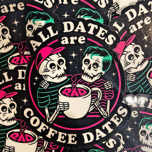 Rad Coffee - All Dates Are Coffee Dates Sticker - Style 2