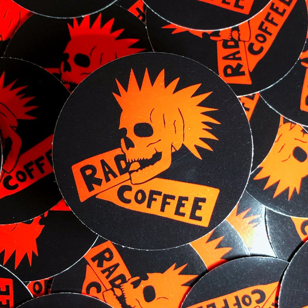 Rad Coffee - Sticker - Rad Mohawk Sticker