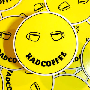 Rad Coffee - Stickers - Dazed Smile Sticker