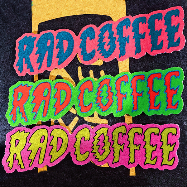 Rad Coffee - Retro Electric Logo Sticker