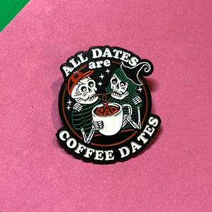 Rad Coffee - Halloween Coffee Dates Lapel Pin