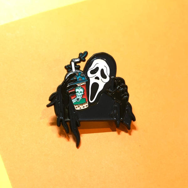Rad Coffee - Ghostface Glow In The Dark Lapel Pin