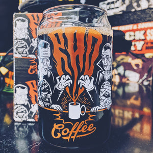 Rad Coffee - Halloween Spooky Can Glass