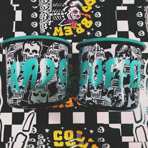 Rad Coffee - Teal Camper Mug