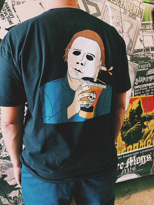 Rad Coffee Michael Myers Pocket Tee