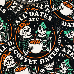 Rad Coffee - Sticker - All Dates Are Coffee Dates Sticker Halloween